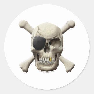 Evil Pirate Skull Crossbones Sticker