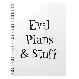 Evil Plans & Stuff Notebook