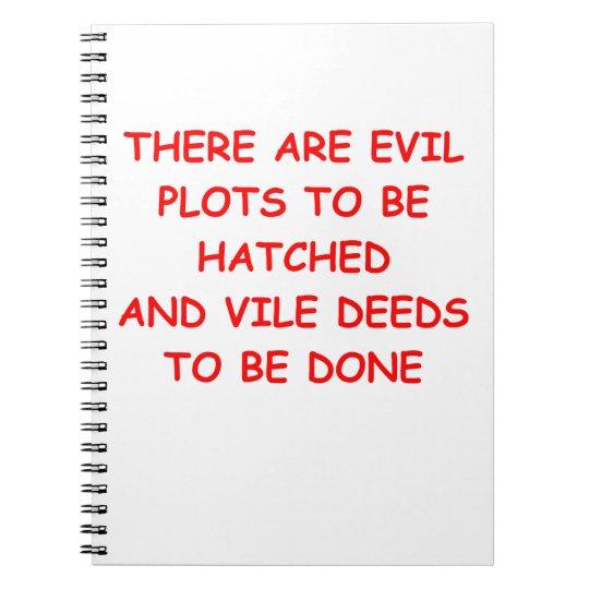 evil plot notebooks