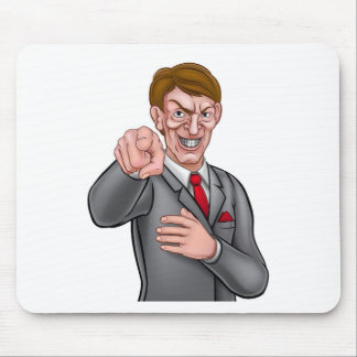 Evil Pointing Businessman Mouse Pad