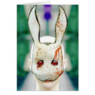 Evil Rabbit Greeting Card