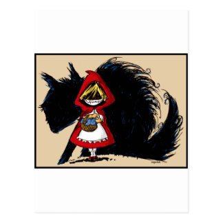 Evil Red Riding Hood Postcard