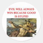 evil round sticker