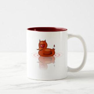 Evil Rubber Duck Two-Tone Coffee Mug