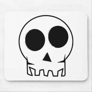 Evil scary and inky skull mousemat