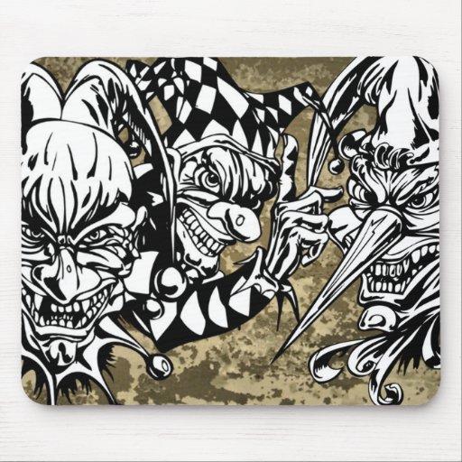 Evil, Scary Clowns Mousepads
