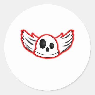 Evil Skull Sickers Classic Round Sticker