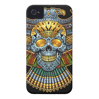 Evil Skull with Guns and Bullets by Al Rio iPhone 4 Case