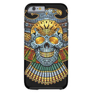Evil Skull with Guns and Bullets by Al Rio iPhone 6 Case