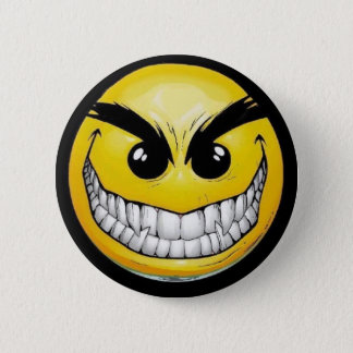 Evil Smiley 6 Cm Round Badge