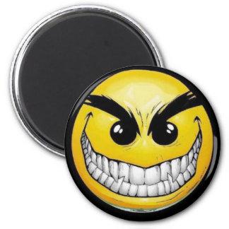 Evil smiley face magnet