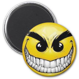Evil smiley face magnets