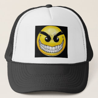 Evil Smiley face Trucker Hat