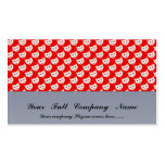 evil smiley faced white hearts on rough red surfac business cards