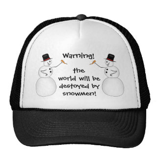 Evil snowmen destroy the world mesh hats