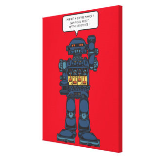 Evil Space Robot Stretched Canvas Print