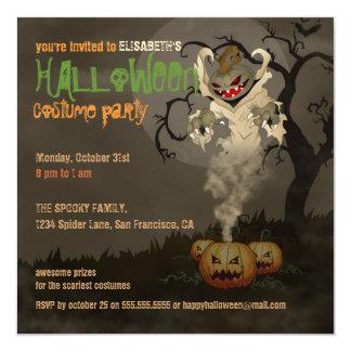 Evil Spirit of Mr. Pumpkin Halloween Party Invite