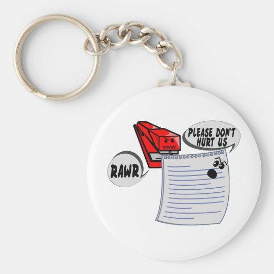 Evil Stapler Basic Round Button Key Ring