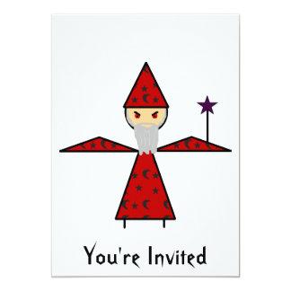 Evil Stick Wizard 13 Cm X 18 Cm Invitation Card