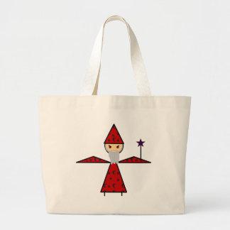 Evil Stick Wizard Jumbo Tote Bag