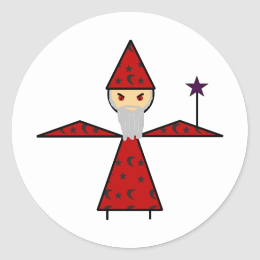 Evil Stick Wizard Sticker