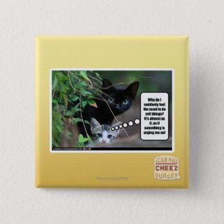 evil things 15 cm square badge