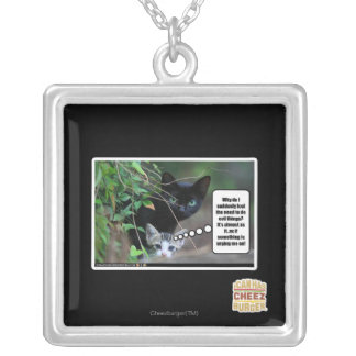 evil things silver plated necklace