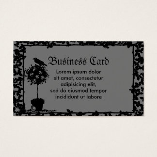 Evil Topiary Coordinates Business Card