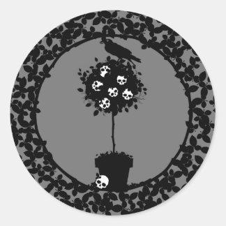 Evil Topiary Coordinates Classic Round Sticker