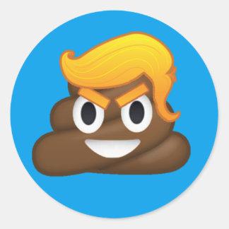 Evil Trump Round Sticker