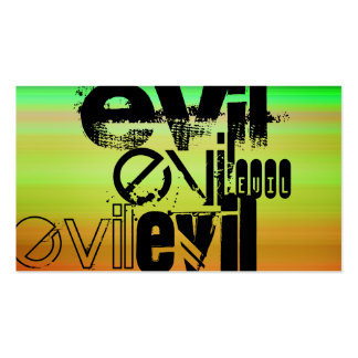 Evil; Vibrant Green, Orange, & Yellow Pack Of Standard Business Cards