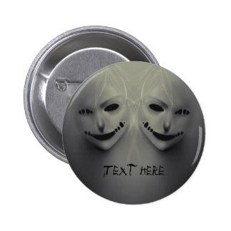 Evil whispers 6 cm round badge
