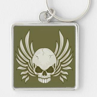 Evil Winged Skull Keychain
