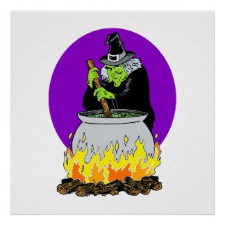 Evil witch brew poster