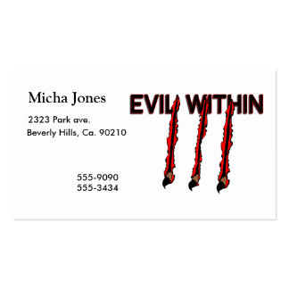 Evil Within Claw Marks Business Card Templates