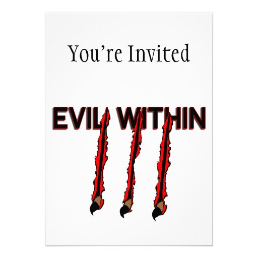 Evil Within Claw Marks Custom Invite