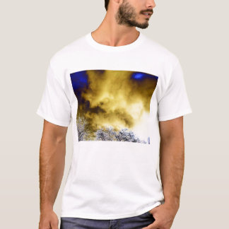 Evil Yellow&Blue Storm Over Purple Electric Trees T-Shirt