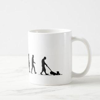 EVO07 evolution of man lawnmower suburbia Coffee Mug