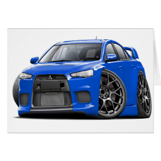 Evo Blue Car Card