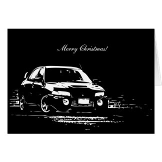 EVO IX  Car Themed Christmas Card