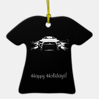 Evolution 10 Rolling shot Double-Sided T-Shirt Ceramic Christmas Ornament