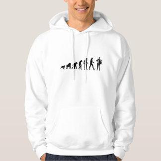 Evolution Accordion Player Hooded Sweatshirts