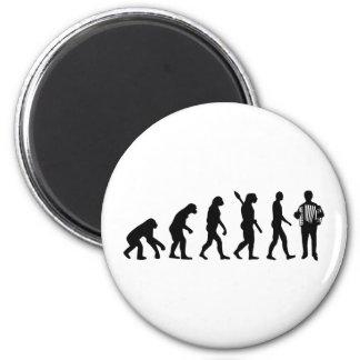 Evolution Accordion player Refrigerator Magnets