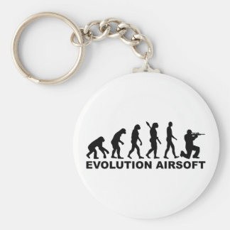 Evolution Airsoft Basic Round Button Key Ring
