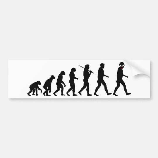 Evolution - Alien Bumper Sticker