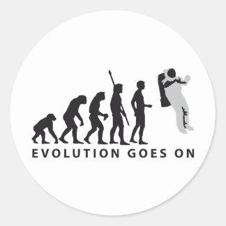 evolution astronaut classic round sticker