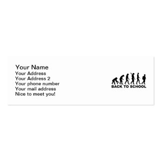 Evolution Back to school Pack Of Skinny Business Cards