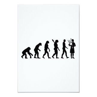 """Evolution Bagpipe 3.5"""" X 5"""" Invitation Card"""