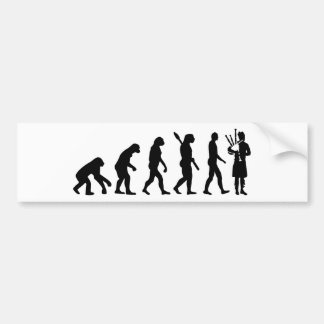 Evolution Bagpipe Bumper Sticker