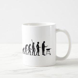 evolution barbecue basic white mug